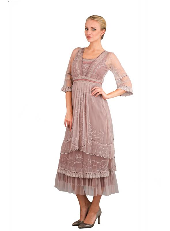 Nataya Art Deco Gatsby Dress in Amethyst