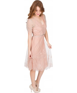 Scarlett AL-251 Vintage Style Party Dress in Quartz by Nataya