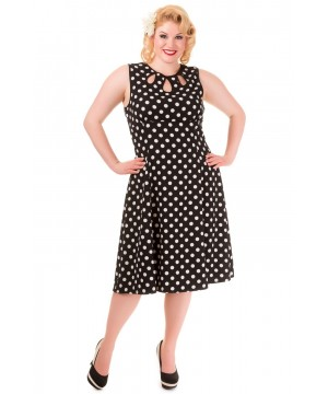 Vintage Style Polka Dot Sleveless Party Dress