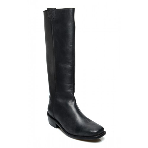 Vintage Style Granny Boots in Black