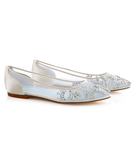 Willow Vintage Inspired Bridal Flats