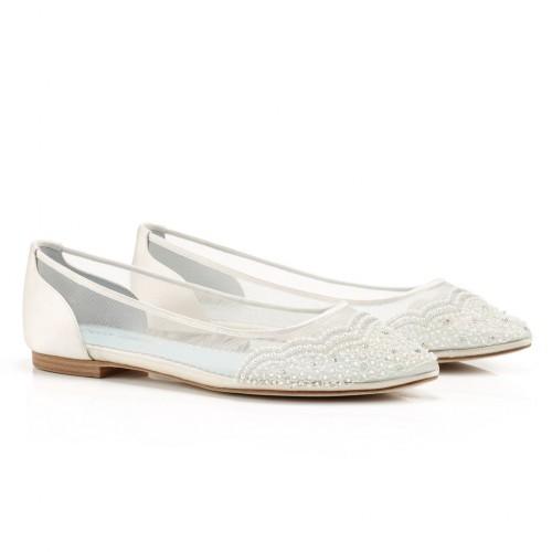Hailey Vintage Inspired Bridal Flats