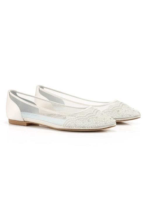 Hailey Vintage Inspired Bridal Flats