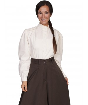 Rangewear Old Western Blouse in Ivory by Scully Leather