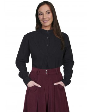Rangewear Farmhouse Style Blouse in Black by Scully Leather