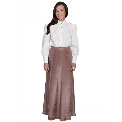 Victorian Style Five Gore Walking Skirt in Chocolate