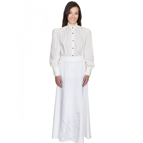 Victorian Style Five Gore Walking Skirt in Natural