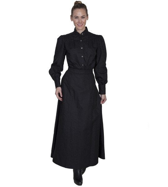 Wahmaker Classic Victorian Style Black Skirt by Scully Leather