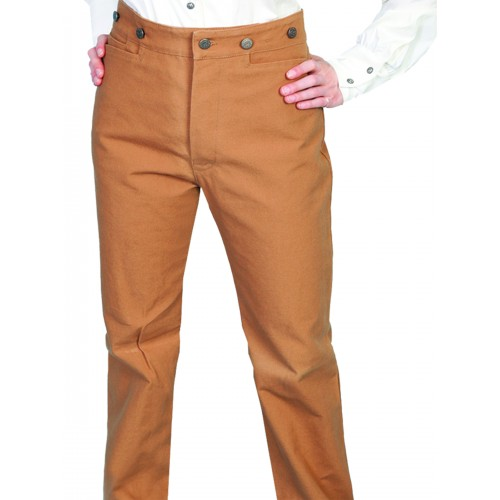 Victorian Style Canvas Pants in Brown