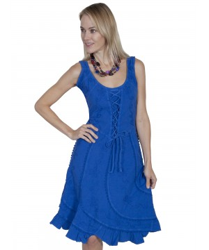 Fairytale Romance Dress in Duzzling Blue by Scully Leather