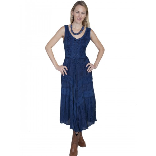 Joey's Canteen Cowgirl Dress in Blue