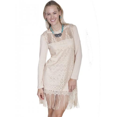 Prairie Lace Bridal Dress in Natural