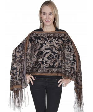 Honey Creek Cowgirl Paisley Burnout Scarf in Brown by Scully Leather