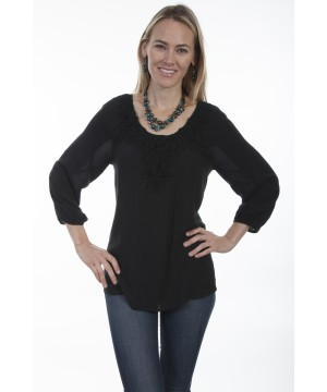 Honey Creek Victorian Inspired Tunic in Black by Scully Leather
