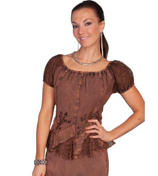 Honey Creek Colorado's Journey Blouse in Copper by Scully Leather
