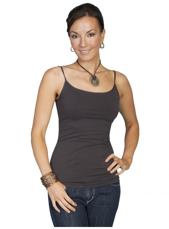 Honey Creek Spring Star Seamless Camisole in Charcoal by Scully Leather