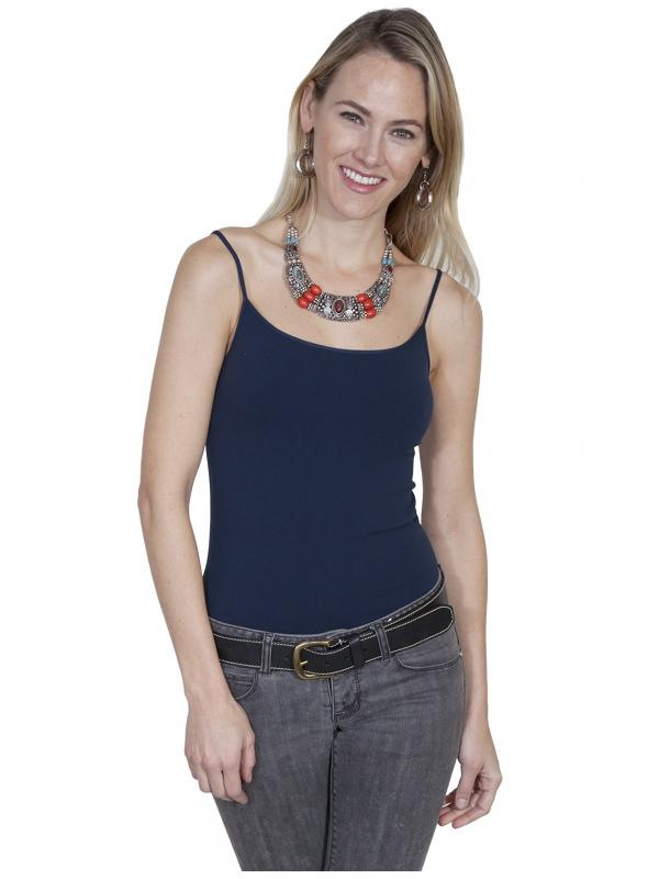Honey Creek Spring Star Seamless Camisole in Dark Blue by Scully Leather