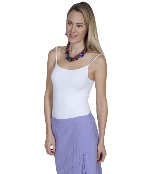 Honey Creek Spring Star Seamless Camisole in White by Scully Leather