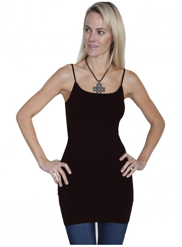 Honey Creek Spring Star Seamless Slip in Black by Scully Leather