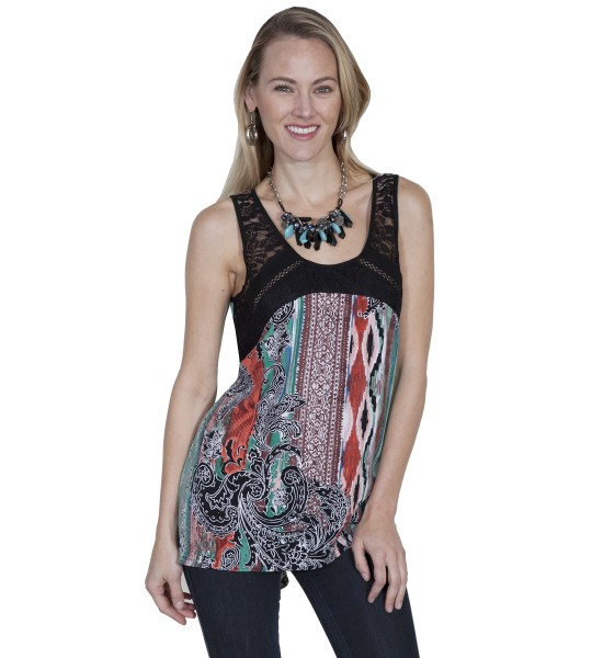 Honey Creek Prairie Colorful Tunic in Multi by Scully Leather