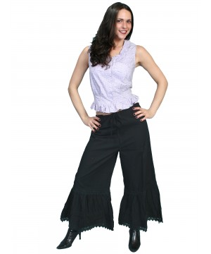 Rangewear Western Style Ruffled Bloomers in Black by Scully Leather