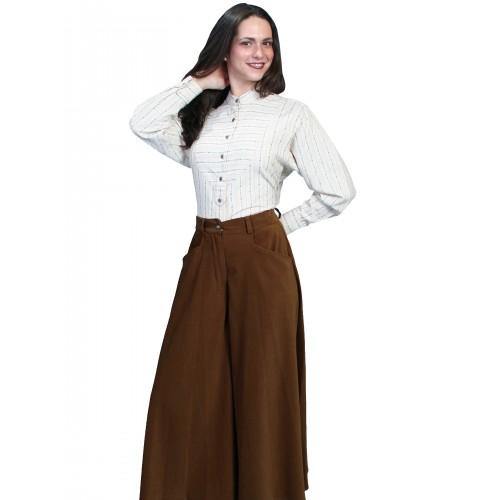 Farmhouse Split Skirt in Brown
