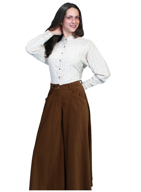 Rangewear Farmhouse Split Skirt in Brown by Scully Leather