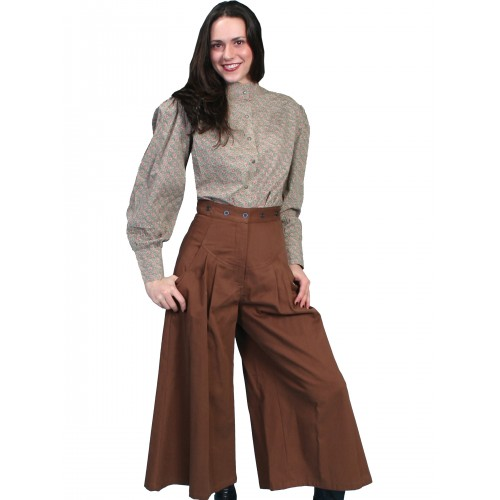 Cowgirl Horse Riding Shortened Trousers in Brown