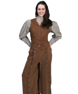 Rangewear Country Girl Riding Pants in Brown by Scully Leather
