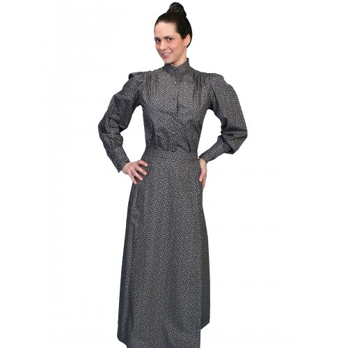 Victorian Style Walking Skirt in Navy