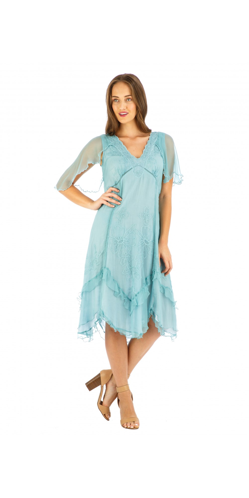 Age of Love Jacqueline AL-241 Vintage Style Party Dress in Turquoise ...