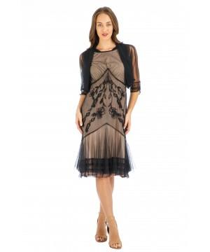 Age of Love Elise AL-432 Vintage Style Party Dress in Onyx by Nataya
