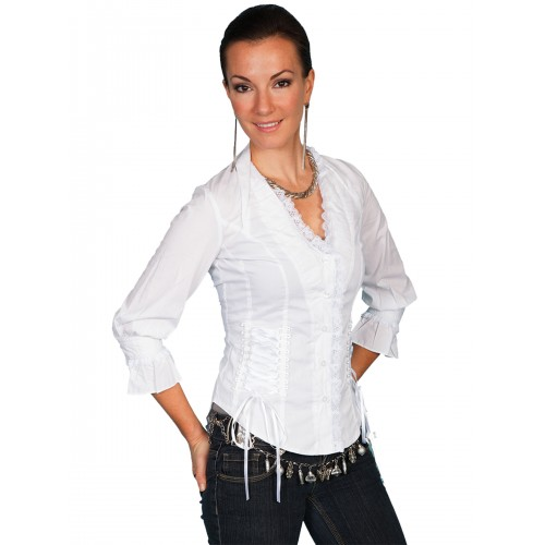 Wild At Heart Ruffled Blouse in White