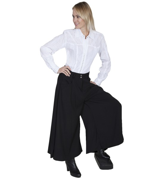 Rangewear Farmhouse Split Skirt in Black by Scully Leather