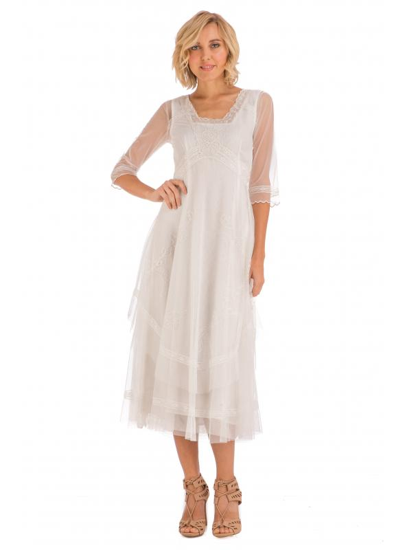 Mary Darling CL-163 Dress in Ivory by Nataya