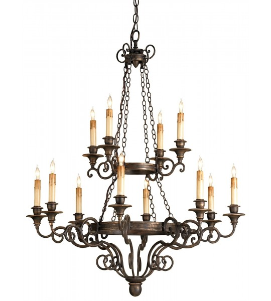 Galleon Chandelier by Currey and Company