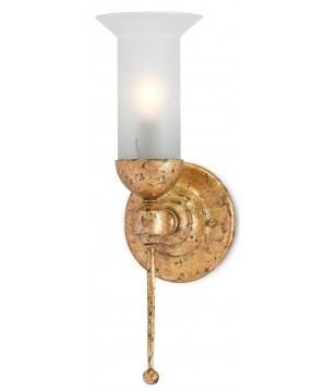 Pristine Gold Wall Sconce by Currey and Company
