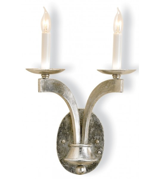 Venus Silver Wall Sconce by Currey and Company