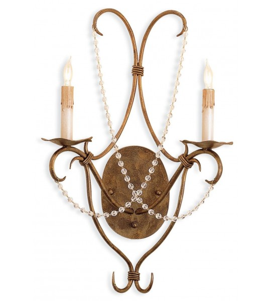 Crystal Lights 5880 Wall Sconce by Currey and Company