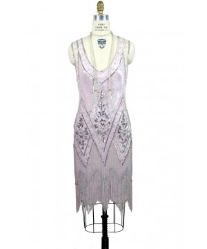 1920s Style Fringe Party Dress in Pink Bon Bon by The Deco Haus