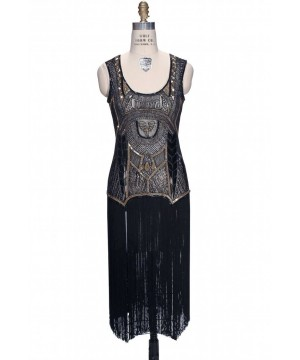 Roaring 20s Art Deco Dress in Black by The Deco Haus