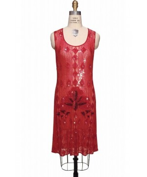 Vintage Inspired Art Deco Dress in Ruby by The Deco Haus