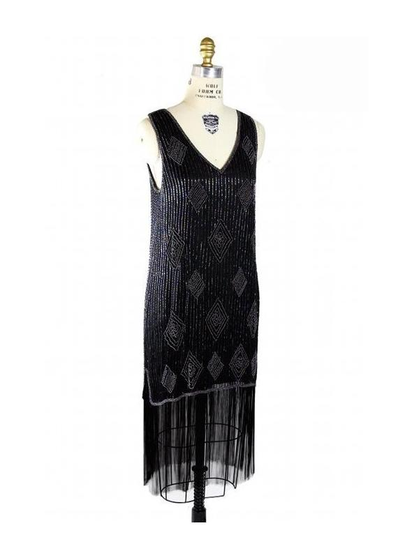 Roaring Twenties Art Deco Party Dress in Aurora by The Deco Haus