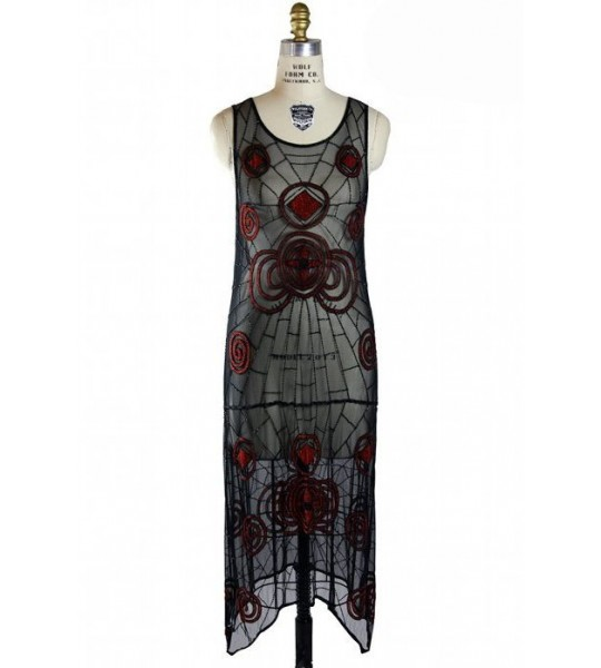 Black Widow 1920s Inspired Dress by The Deco Haus