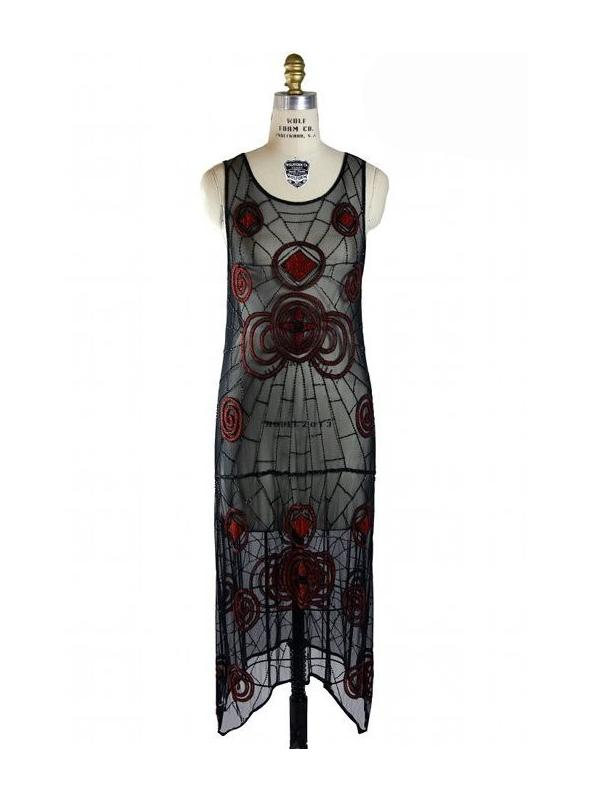 Black Widow 1920s Inspired Dress - SOLD OUT