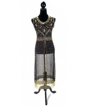 Titanic Vintage Inspired Gown in Gold/Black by The Deco Haus