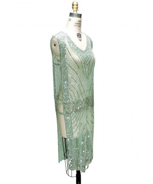Great Gatsby Style Tabard Dress in Sherbet Green by The Deco haus