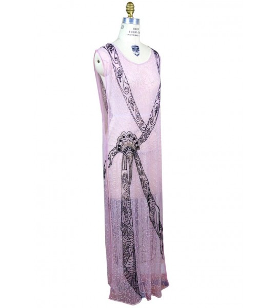 Flapper Style Elegant Party Dress in Blush by The Deco Haus