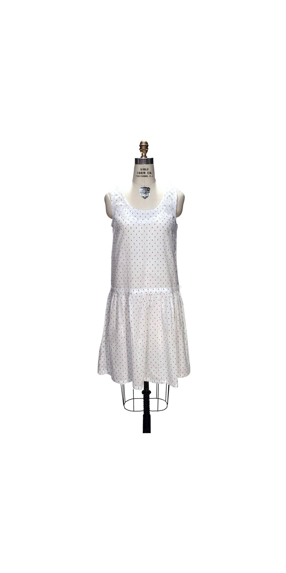 Wolf Haus Reggio Emilia 1930s style deco black dots white dress by the deco haus