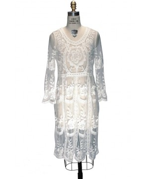 1920s Inspired Vintage Lace Bridal Dress in White by The Deco Haus